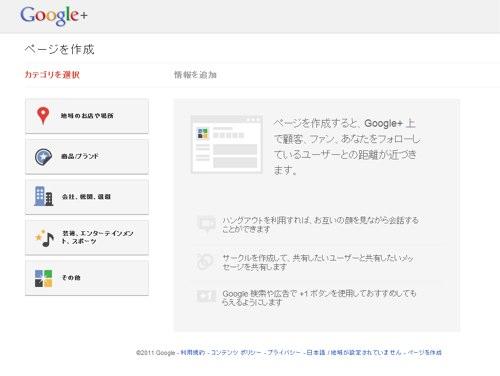 Google+ページを作ってみた