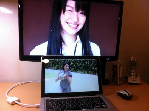 MacBookProに外部モニターを接続してみた