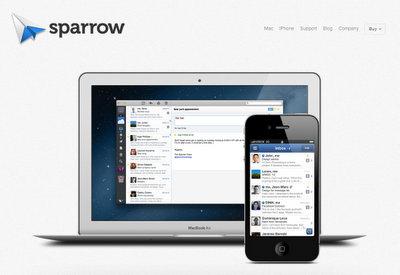 iPhoneのメールアプリ Sparrowを使ってみる