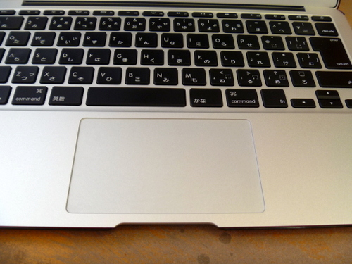 MacBookAirのトラックパッドフィルム