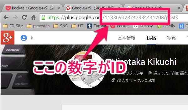 Google+のID