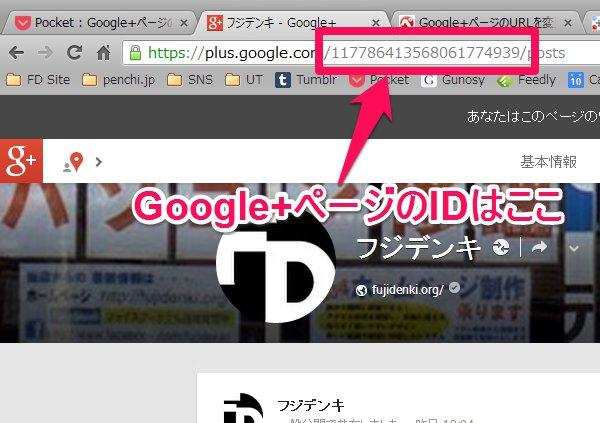 Google+ページのID