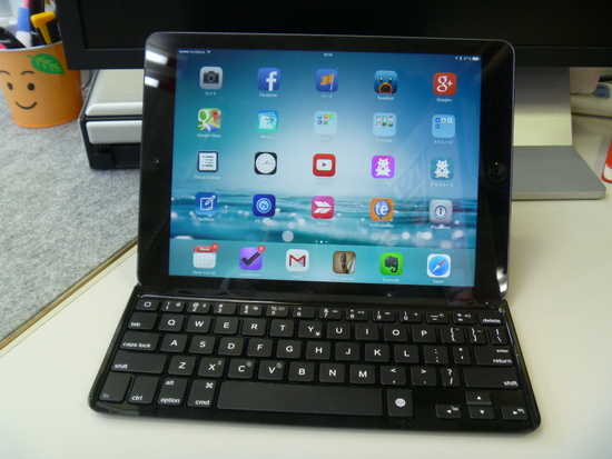 iPad Airにロジクール ウルトラスリム キーボードカバーを使ってみる