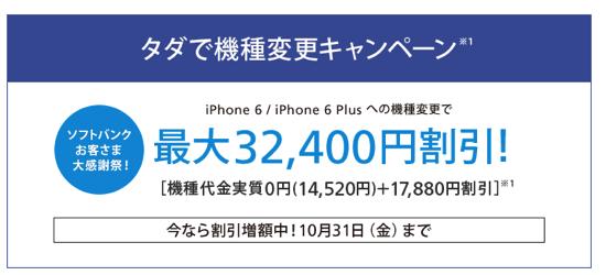 ソフトバンク タダで機種変更キャンペーンでiPhone 5sを送付した