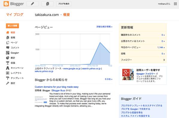 Blogger takizakura com 概要